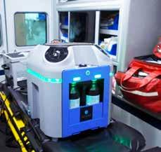 BQ EMS unit in ambulance
